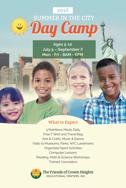 2016 Summer in the City Day Camp Flyer